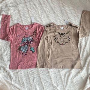 Set of 2 Garanimals long sleeve shirts